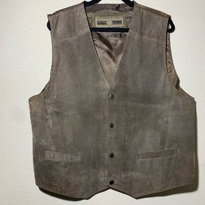 MEMBERS ONLY Men's XL Leather Vest